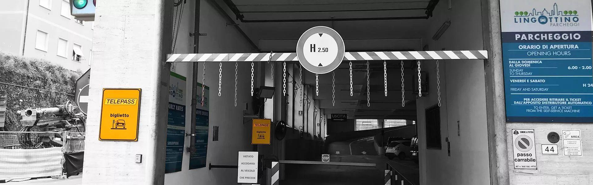 Ingresso parcheggio Lingottino Pistoia | Lingottino Parcheggi S.r.l.